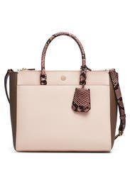 Apricot Robinson Double Zip Tote by Tory Burch Accessories