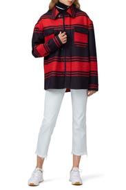 Striped Shirt Jacket by No. 21