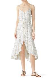 White Printed Frida Dress by Rails