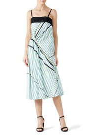 Stripe Ruched Dress by Cedric Charlier