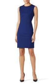 Navy Fitted Sheath by Theory