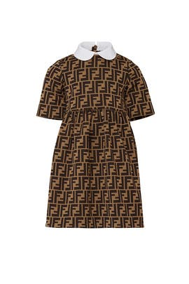 Kids Milano Stiched Dress by Fendi Kids