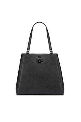 Black McGraw Carryall Bag by Tory Burch Accessories