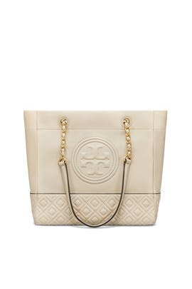Light Taupe Fleming Tote by Tory Burch Accessories