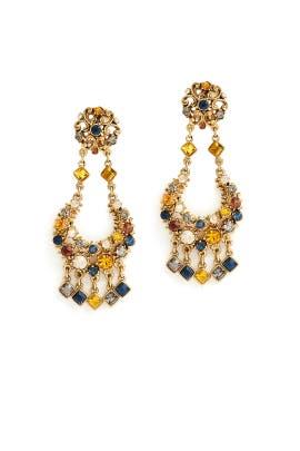 Multi Gem Earrings by Ben-Amun