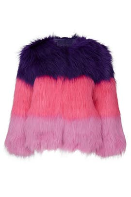 Kids Colorblock Faux Fur Jacket by DVF x Rockets of Awesome Kids