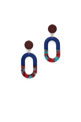 Blue Oval Drops by Slate & Willow Accessories