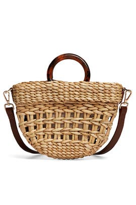Straw Tortoise Bec Bag by Poolside