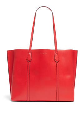 Brilliant Red Perry Triple Compartment Tote by Tory Burch Accessories