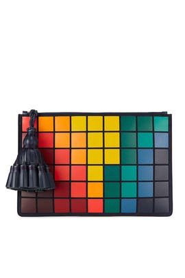 Georgiana Giant Pixels Clutch by Anya Hindmarch