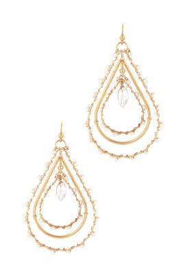 Orphee Pearl Earrings by Gas Bijoux