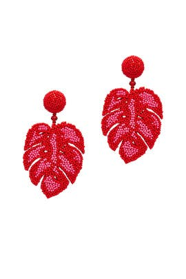 Monstera Leaf Earrings by Sachin & Babi Accessories