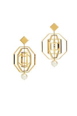 Geo Pearl Earrings by Tory Burch Accessories