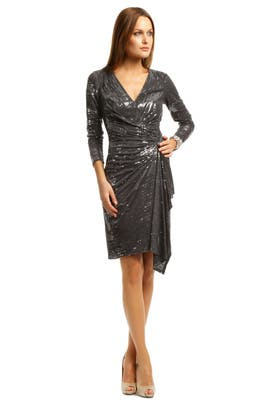 c80002862bb Charcoal Cocktail Sequin Dress by David Meister for  98