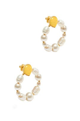Yellow Gold Jade Hoops by kate spade new york accessories