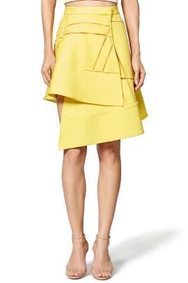 Yellow Net Skirt by David Koma