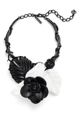 Resin Flower Necklace by Oscar de la Renta