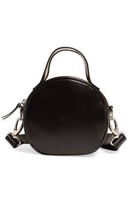 Black Round Logo Bag by MSGM Handbags
