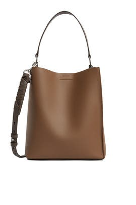 Brown Voltaire Small NS Tote by AllSaints