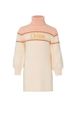 Kids Turtleneck Dress by Chloé Kids