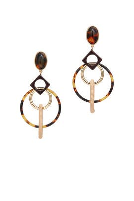 Spinning Hoop Earrings by Tory Burch Accessories