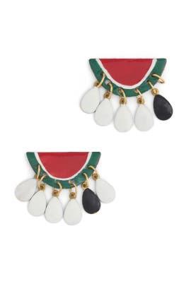 Dancing Watermelon Earrings by Susan Alexandra