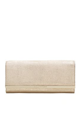 Light Gold Soirée Shimmer Clutch by Diane von Furstenberg Handbags