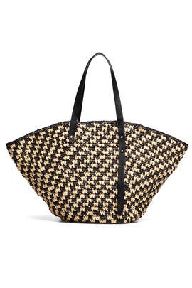Woven Fan Tote by Rebecca Minkoff Accessories