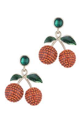Red Cheri Earrings by Dannijo