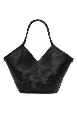 Black Coloma Interwoven Tote by Hereu