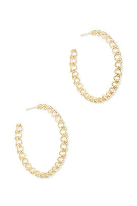 Gold Fallyn Hoop Earrings by Kendra Scott