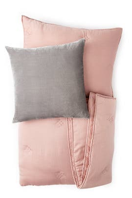 Full/Queen- Washed Silk Bedding Bundle- Rosette by West Elm