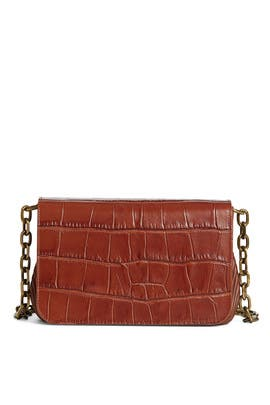 Cognac Sofia Shoulder Bag by Carolina Santo Domingo