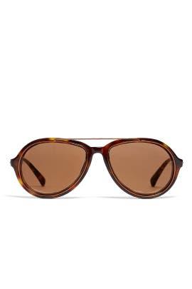 Bronze Tortoiseshell Sunglasses by Linda Farrow
