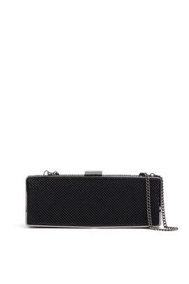 Black Rectangular Minaudiere by Whiting & Davis