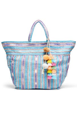 Blue Samui Stripe Bag by JADEtribe