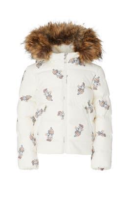 Kids Faux Fur Bear Puffer Jacket by Ralph Lauren Kids