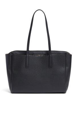 Black Wide Tote Bag by Marc Jacobs Handbags