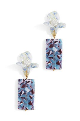 Flower Gem Earrings by Lele Sadoughi