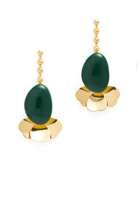 Emerald Flower Earrings by Marni Accessories