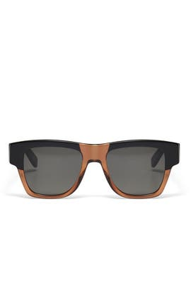 Black and Brown Sunglasses by Saint Laurent