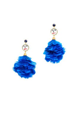 Conversational Feather Earrings by Tory Burch Accessories
