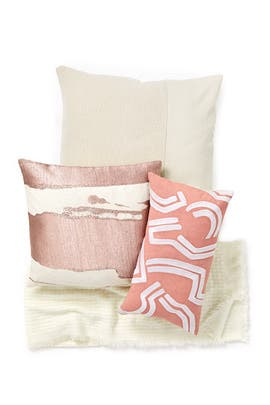 Pink Abstract Living Room Bundle by West Elm