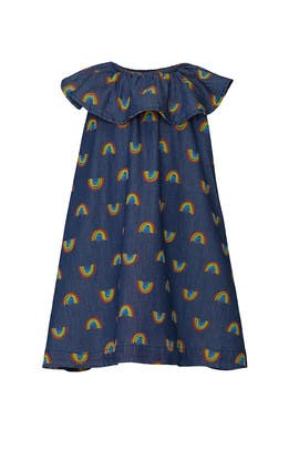 Kids Rainbow Print Dress by Stella McCartney Kids