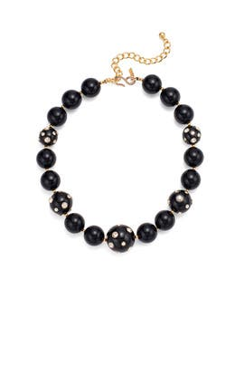 Crystal Dots Ball Necklace by Kenneth Jay Lane