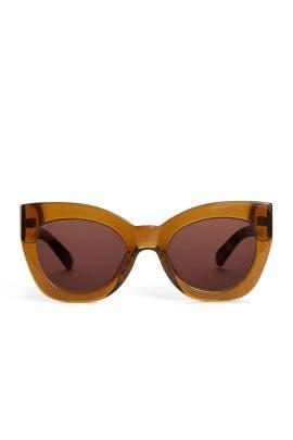 Tan Northern Lights Sunglasses by Karen Walker