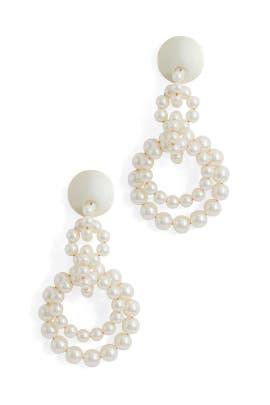 Pearl Loop De Loop Earrings by Lele Sadoughi