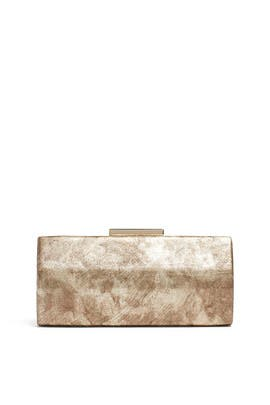Marbleized Metallic Clutch by Sondra Roberts
