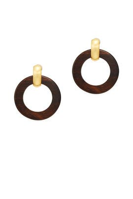 Wood Doorknocker Earrings by Kenneth Jay Lane