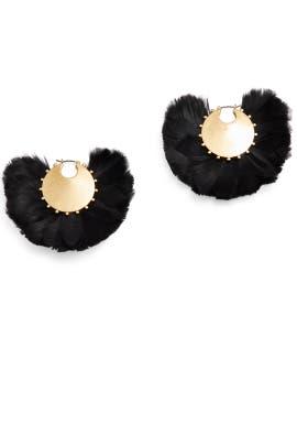In Full Feather Hoop Earrings by kate spade new york accessories
